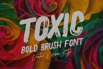 Toxic - Brush & Grunge Font