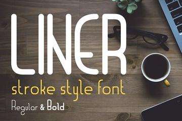 Liner| font for logos with frames