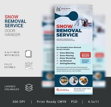 Snow Removal Service Door Hanger