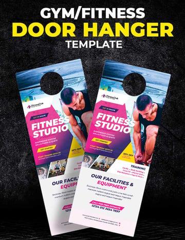 Fitness Door Hanger Template