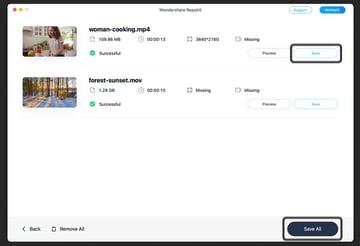 save video wondershare repairit