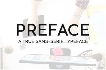 PREFACE Sans-Serif Typeface + WebFonts