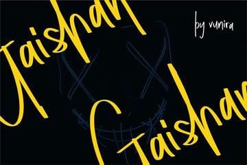 Gaishan | Script Display Font