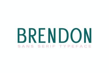 Brendon Sans Serif Typeface