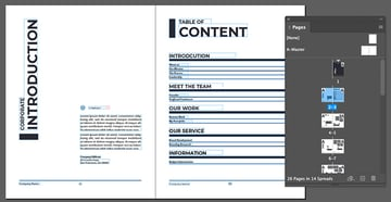indesign pages
