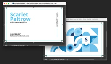 photoshop business card template