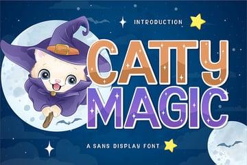 Catty Magic Display Font