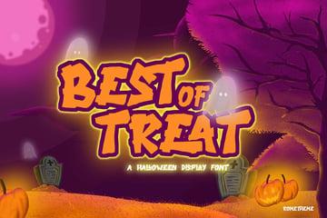 Best of Treat - Halloween Typeface VW
