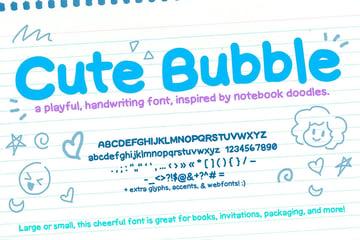 Cute Bubble Font (Notebook Handwriting Font)
