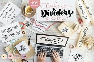 Vector flourish dividers SVG