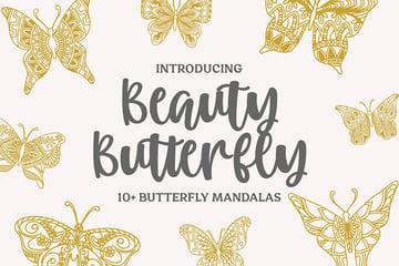 13 Beauty Butterfly Mandalas