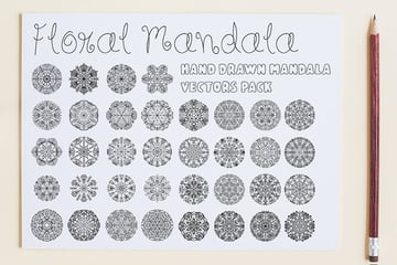 Floral Mandala Vector Pack