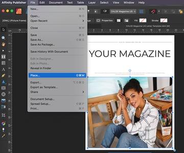 Affinity Publisher magazine template