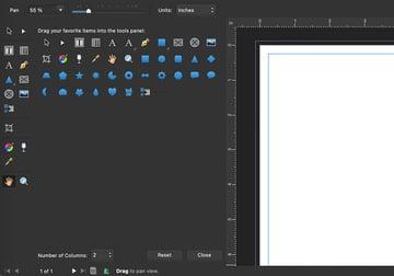 affinity publisher customize toolbar