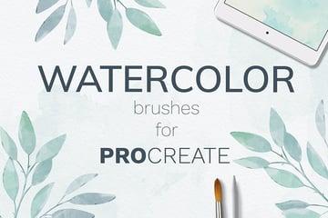 Procreate watercolor brush set