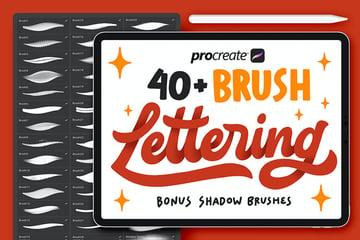 40+ Procreate Lettering Brushes