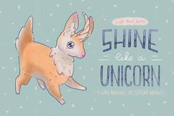 Shine Like a Unicorn | Procreate Brushes