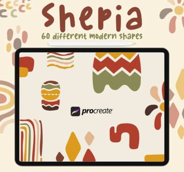 Shepia - 60 Stamp Procreate Brushes