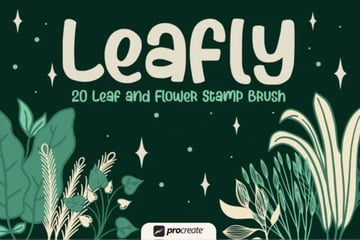 Leafly - Procreate Stamp Brushes