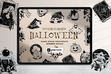 Halloween Illustration Stamp Brush Procreate