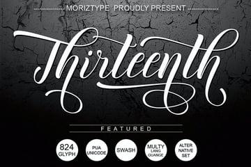 Thirteenth Script Font