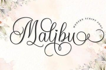 Malibu modern calligraphy