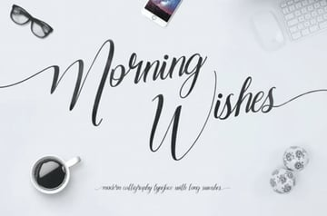 Morning Wishes Script Font