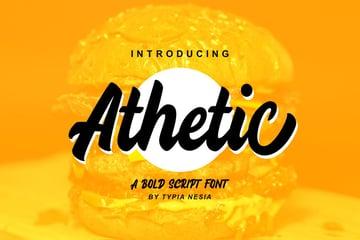 Athetic Bold Script