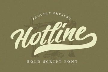 Hotline Modern Vintage Font