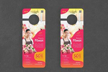 Florist Door Hanger Creative Promotion