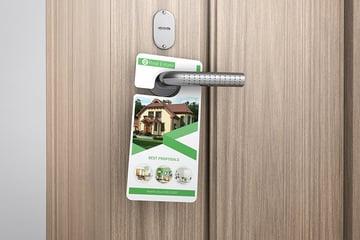 small door hanger template