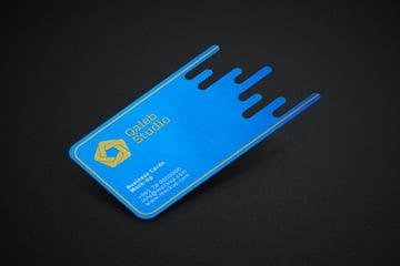 custom die cut business card mockup