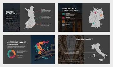 Eurove : Europe Region Vector Map Powerpoint
