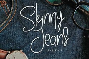 Skinny Jeans - Fashion Handwriting Font