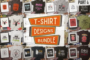 Retro Affinity Designer T Shirt Template Collection