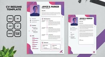 affinity designer resume template