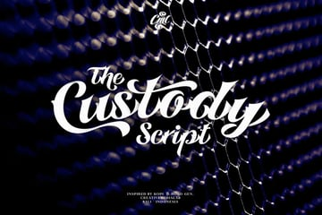 Custody Popular Script (Fonts for Tattoos)