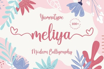 Meliya Script (Popular Script Fonts for Cricut)