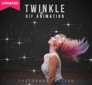 Twinkle Gif Animation Photoshop Action
