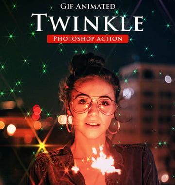 Gif Animated Twinkle Photoshop Action