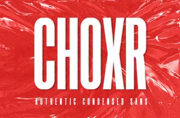 CHOXR - Authentic Condensed Sans