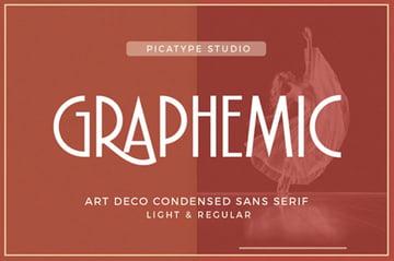 Graphemic | Deco Condensed Sans