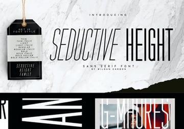 Seductive Height Sans Serif Font