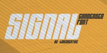 AJ Signal Condensed Font