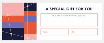 gift certificate simple template
