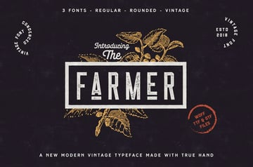 The Farmer Font Condensed Typeface