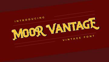 MOOR VANTAGE Classical Vintage Font