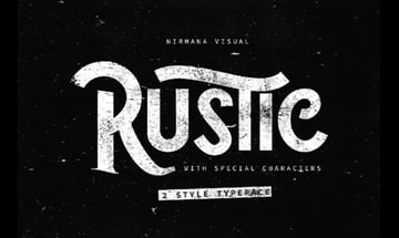 Rustic Style Font