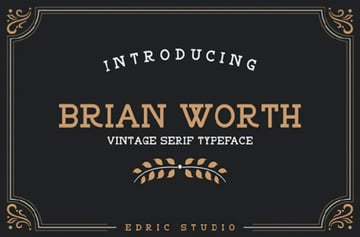 Brian Worth Vintage Textured Font