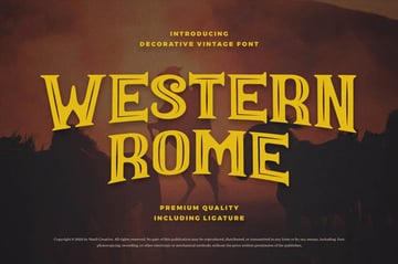 Western Rome Vintage Western Font